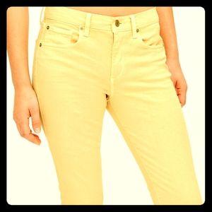 Butter Yellow Gap True Skinny Ankle Jeans
